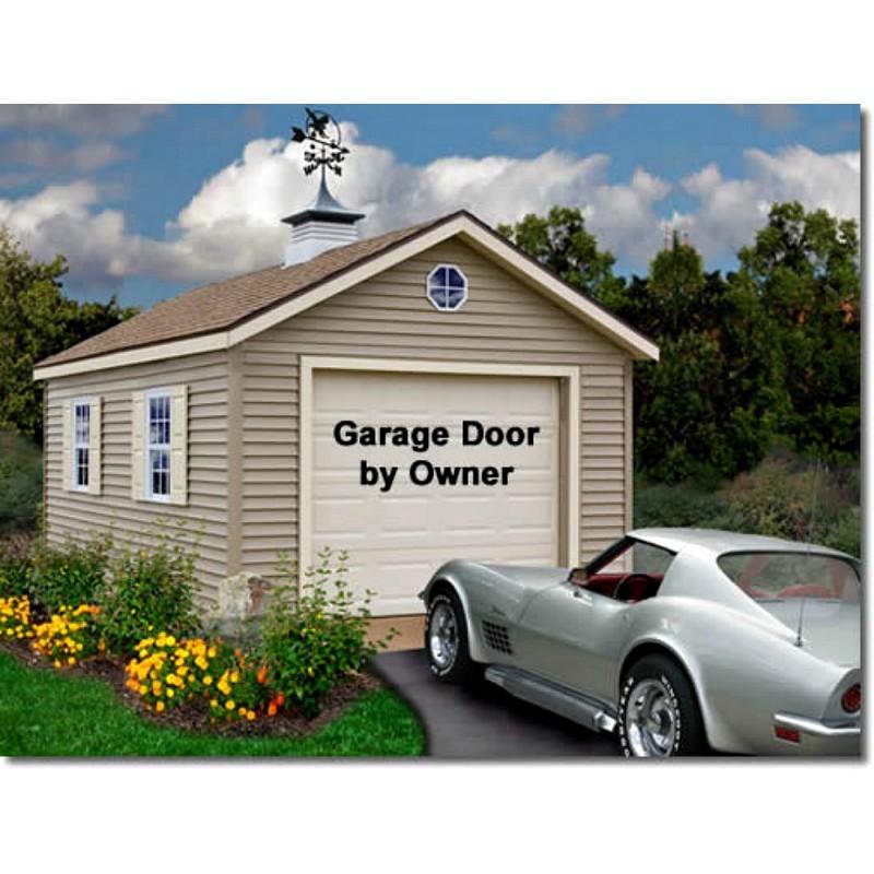 Greenbriar 12x16 Wood Garage Shed Kit - ALL Pre-Cut (greenbriar_1216)