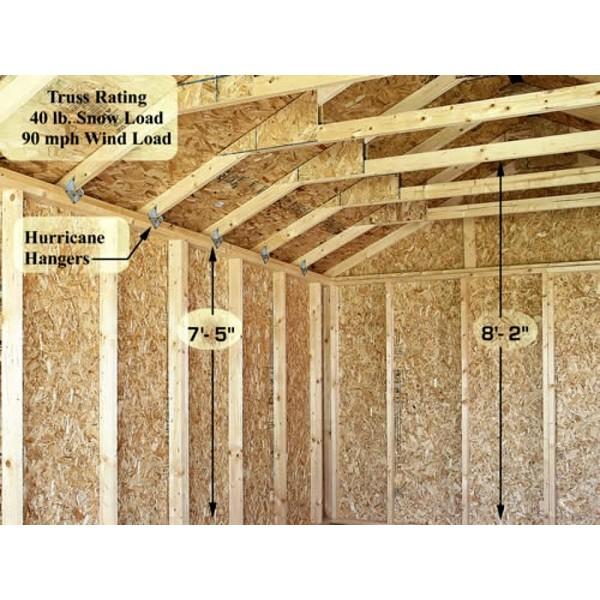Greenbriar 12x16 Wood Garage Shed Kit All Pre Cut 1216