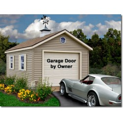 Greenbriar 12x20 Wood Garage Shed Kit - ALL Pre-Cut (greenbriar_1220)