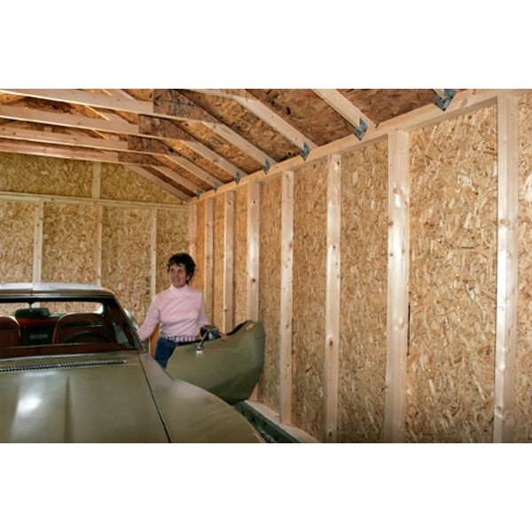 Greenbriar 12x24 Wood Garage Shed Kit All Pre Cut