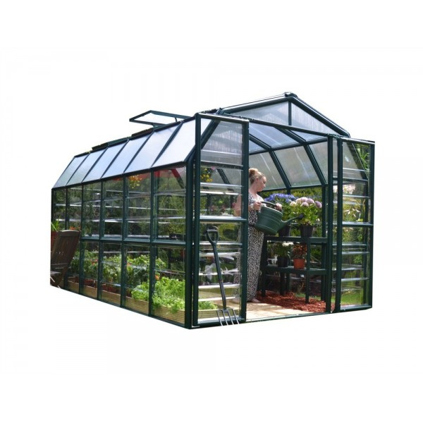 Rion 8x12 Grand Gardener 2 Greenhouse Kit Clear Hg7212c