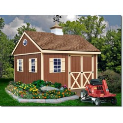 Mansfield 12x12 Wood Storage Shed Kit (mansfield_1212)