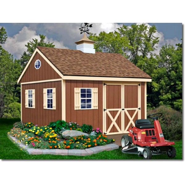 Mansfield 12x12 Wood Storage Shed Kit (mansfield_1212