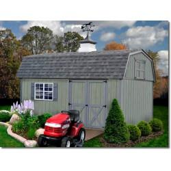 Best Barns Meadowbrook 10x16 Wood Storage Shed Kit (meadowbrook_1016)