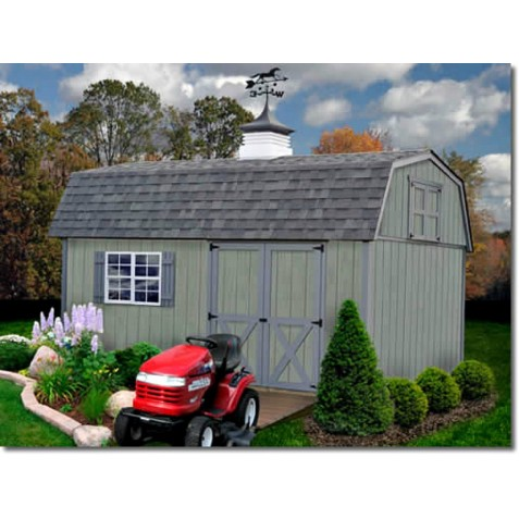 Best Barns Meadowbrook 10x16 Wood Storage Shed Kit (meadowbrook_1016)