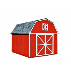 Handy Home Berkley 10x12 Wood Storage Shed w/ Floor - Barn Style (18513-7)
