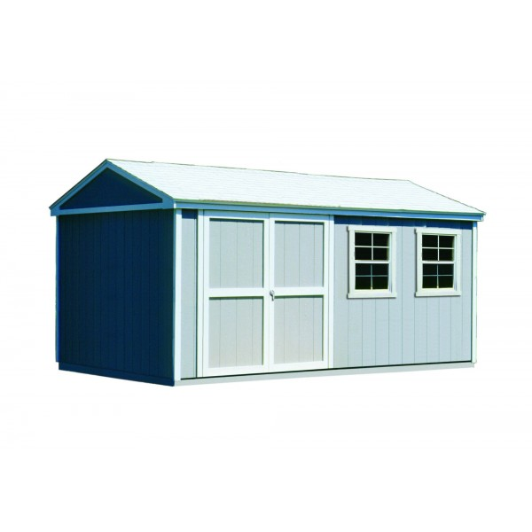 Handy home somerset 10x14 wood storage shed w floor 18415 4 for 10x14 shed floor plans