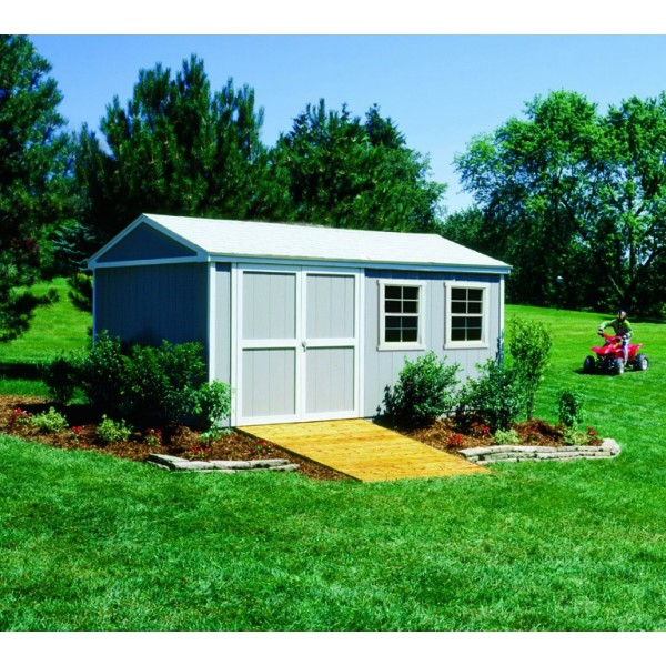 Handy Home Somerset 10x16 Wood Storage Shed Kit With