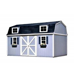 Handy Home Berkley 10x16 Wood Storage Shed w/ Floor - Barn Style (18515-1)