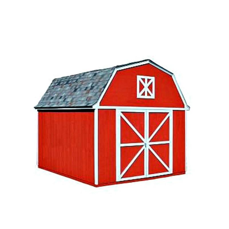 Handy Home Berkley 10x14 Wood Storage Shed Kit (18421-5)