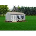 Handy Home Columbia 12x16 Wood Storage Shed Kit w/ Floor (18219-8)