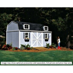 Handy Home Berkley 10x18 Wood Storage Shed w/ Floor - Barn Style (18424-6)