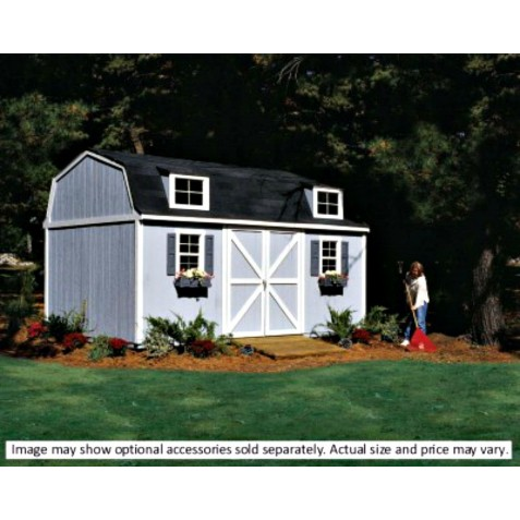 Handy Home Berkley 10x18 Wood Storage Shed w/ Floor (18424-6)