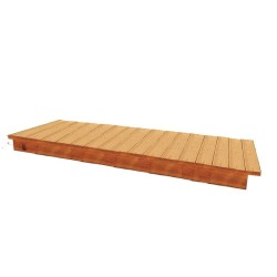 Handy Home 8' Phoenix Greenhouse Cedar Bench Kit (18151-1)
