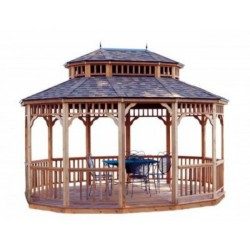 Handy Home 12x16 Monterey Oval Gazebo with Floor Kit (19520-4)