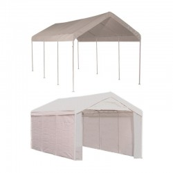 Shelter Logic 1020 Canopy Carport Kit w/ Side Panels - White (23529)