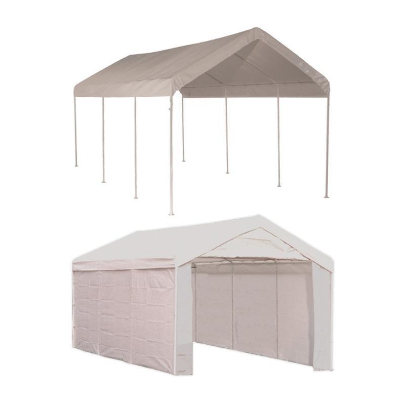 Shelter Logic 10 215 20 Canopy Carport Kit W Side Panels