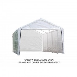 Shelter Logic 1230 Canopy Enclosure Kit - White (25779)