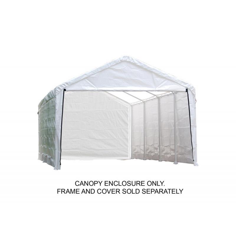 Shelter Logic 1230 Canopy Enclosure Kit - White (25779)