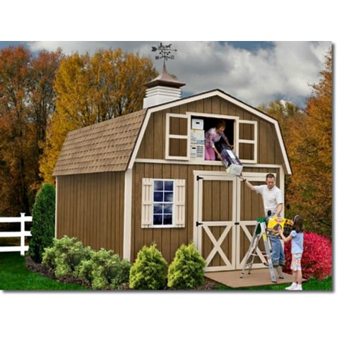 Best Barns Millcreek 12x16 Wood Storage Shed Kit - ALL Pre-Cut - (millcreek_1216)