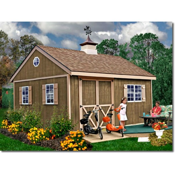 Pre Cut Timber Frames For Buildings Storage Garages And More: New Castle 16x12 Wood Storage Shed Kit