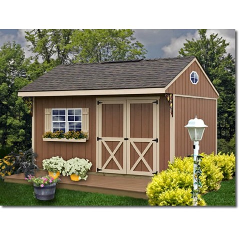 Best Barns Northwood 10x14 Wood Storage Shed Kit - ALL Pre-Cut (northwood_1014)