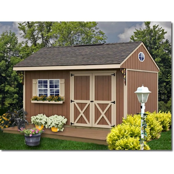 Best Barns Northwood 10x14 Wood Storage Shed Kit   ALL Pre Cut  (northwood_1014)