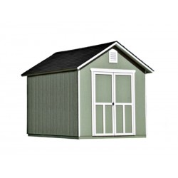 Handy Home Meridian 8x10 Wood Storage Shed Kit w/ Floor (19348-4)