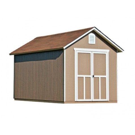 Handy Home Meridian 8x12 Wood Storage Shed Kit w/ Floor - Contemporary Style (19350-7)