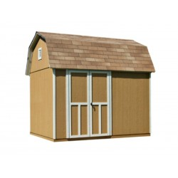 Handy Home Briarwood 10x8 Wood Storage Shed Kit w/ Floor - Barn Style (19352-1)