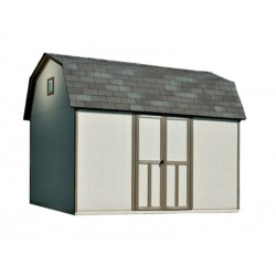 Handy Home Briarwood 12x8 Wood Storage Shed Kit w/ Floor - Barn Style (19354-5)