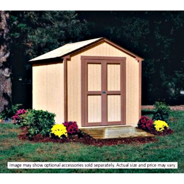 Handy home kingston 8x8 wood storage shed w floor 18276 for Garden shed 8x8