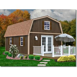 Best Barns Richmond 16x24 Wood Storage Shed Kit (richmond1624)