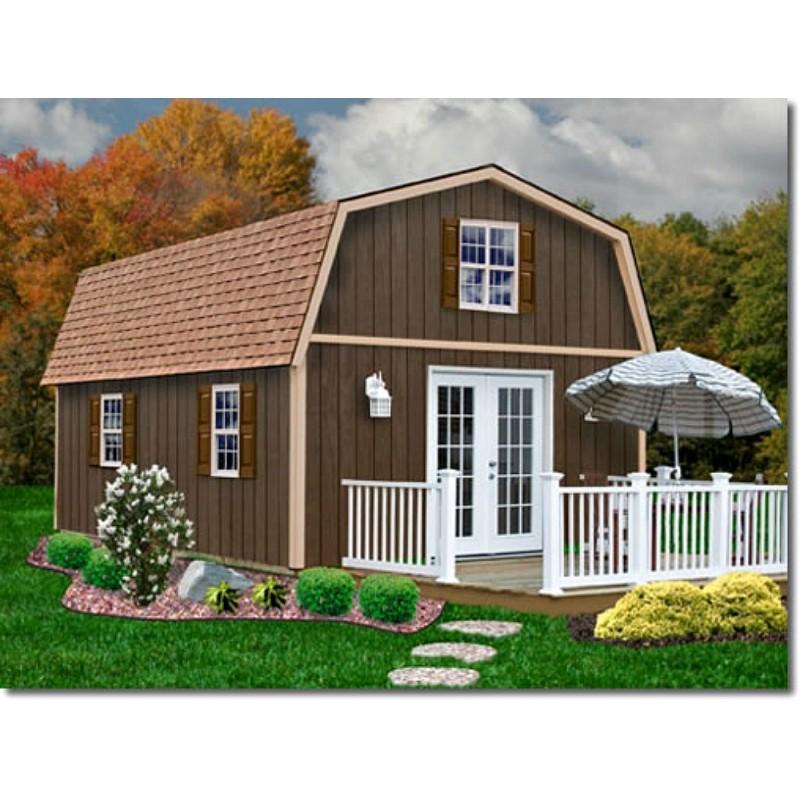 Best Barns Richmond 16x24 Wood Storage Shed Kit (richmond1624)