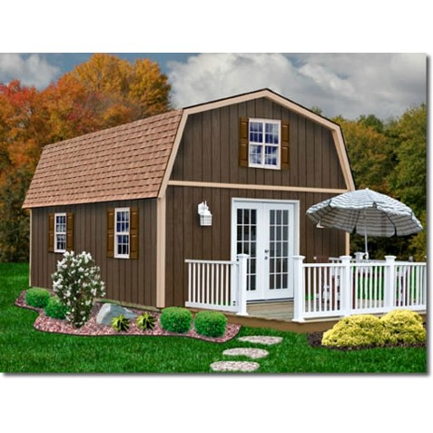 Best Barns Richmond 16x28 Wood Storage Shed Kit (richmond1628)