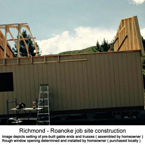 Best barns roanoke 16x20 wood storage shed kit roanoke1620 for 16x24 garage kit