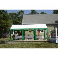 Shelter Logic 10x20 Party Tent - Green / White (25889)