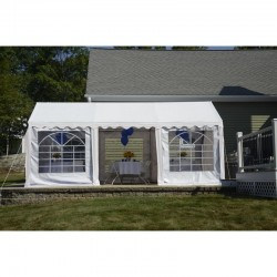 Shelter Logic 10x20 Party Tent Kit w/ Enclosure - White (25890)