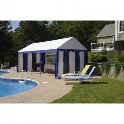 Shelter Logic 10x20 Party Tent Enclosure Kit - Blue / White (25891)