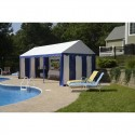 Shelter Logic 10x20 Party Tent Enclosure Kit - Blue / White (25891)