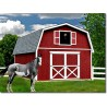 Best Barns Roanoke 16x28 Wood Storage Shed Kit (roanoke1628)