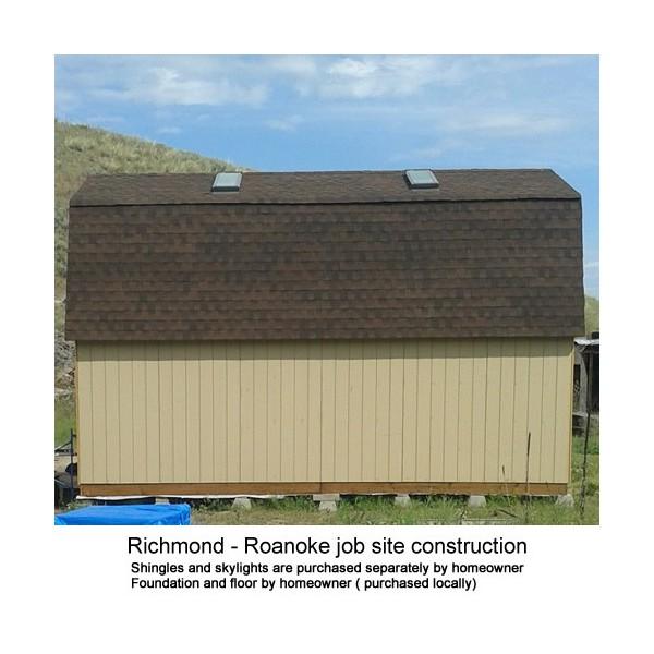 Best barns roanoke 16x24 wood storage shed kit roanoke1624 for 16x24 garage kit
