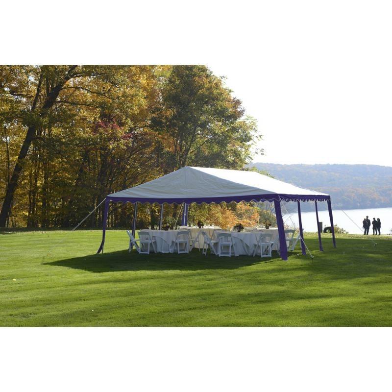 Shelter Logic 20x20 Party Tent Kit - Blue & White (25918)