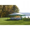 Shelter Logic 20x20 Party Tent Kit - Green & White (25919)
