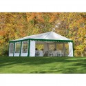 Shelter Logic 20x20 Party Tent Kit with Enclosure - Green & White (25922)