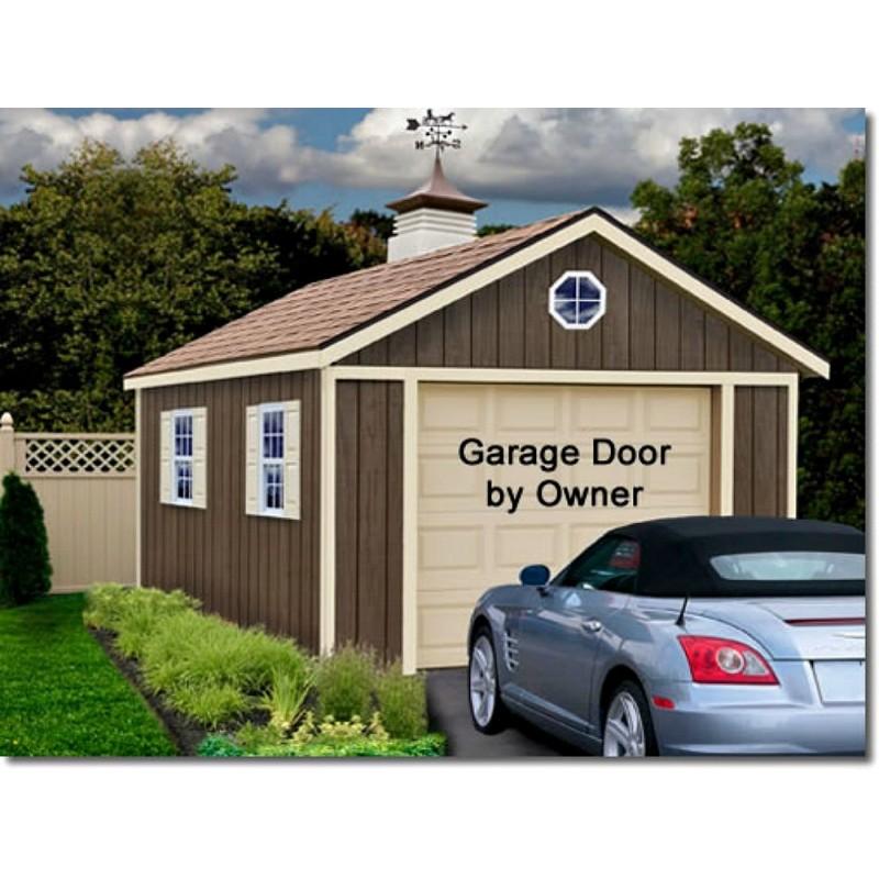 Sierra 12x16 Wood Storage Garage Shed Kit - ALL Pre-Cut (sierra_1216)