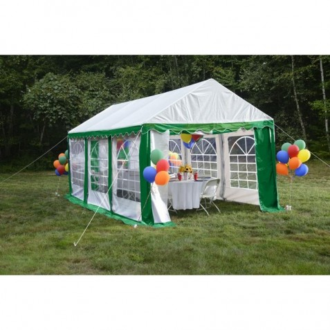 Shelter Logic 10x20 Party Tent Kit w/ Windows - Green and White (25899)