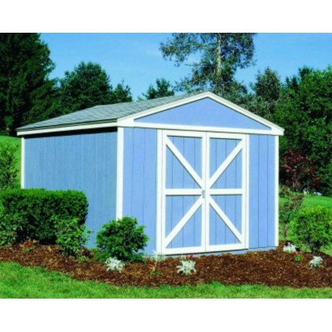 Handy Home Somerset 10x8 Wood Storage Shed Kit with Flexible Door Locations - Floor kit Included (18502-1)