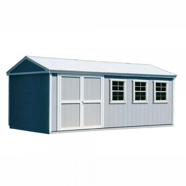 Handy Home Somerset 10x18 Wood Storage Shed Kit 18416 1
