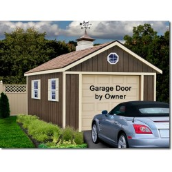 Sierra 12x24 Wood Storage Garage Shed Kit - ALL Pre-Cut (sierra_1224)